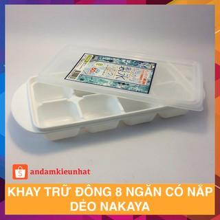Khay trữ đông 8 ngăn có nắp dẻo Nakaya