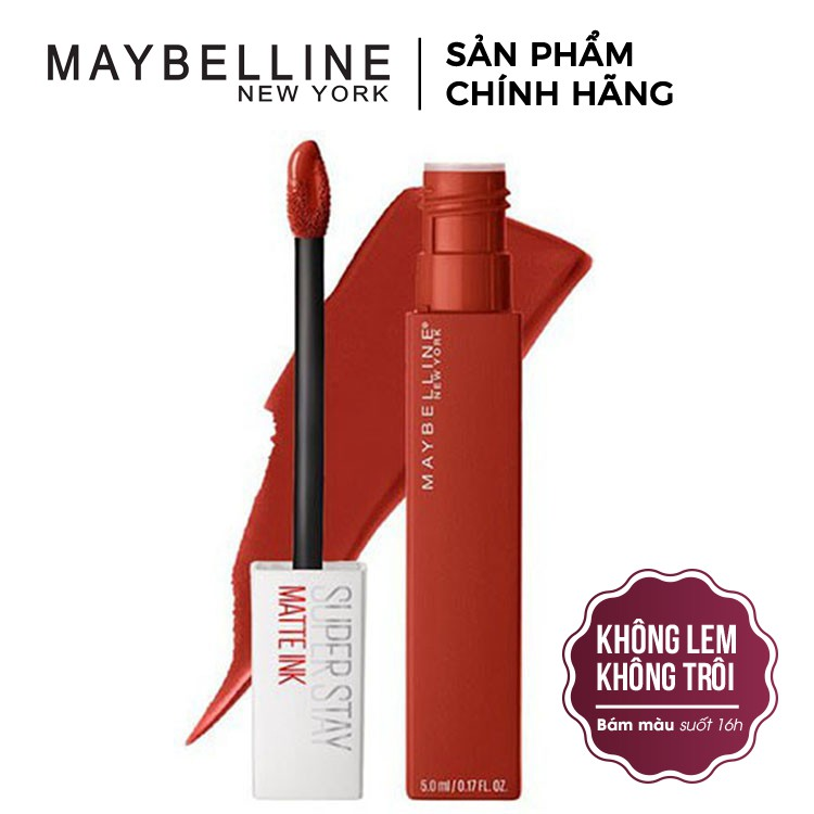 [CHÍNH HÃNG] Son Kem Lì Maybelline Super Stay Matte Ink 5ml Bền Màu Lâu Trôi PM720