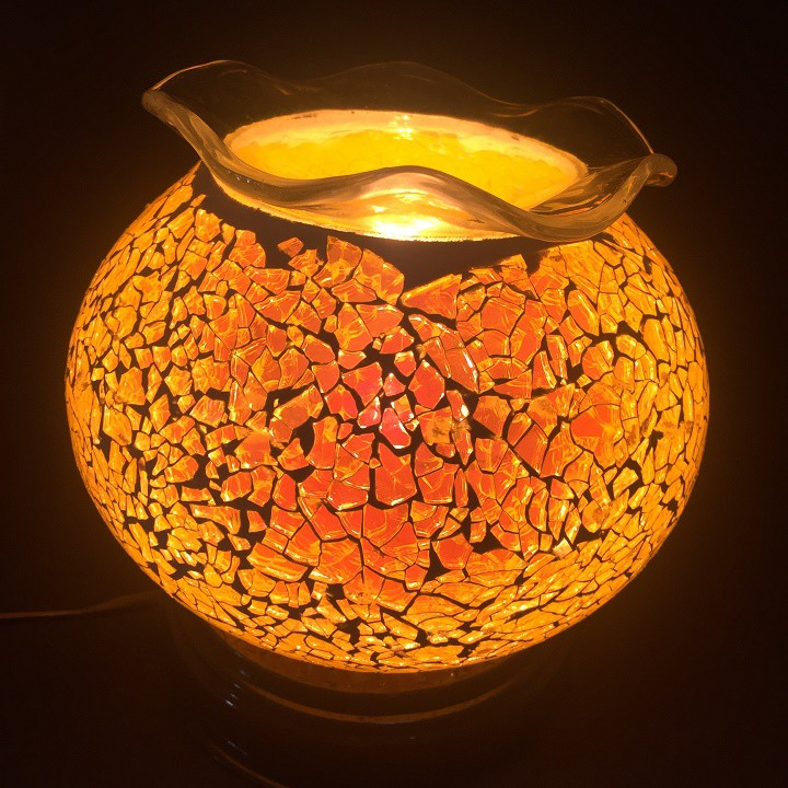 đèn xông tinh dầu pha lê tặng kèm tinh dầu