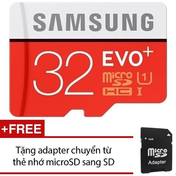 Thẻ nhớ Micro SD Samsung EVO Plus 32GB + Tặng 1 Adapter chuyển Micro SD sang SD