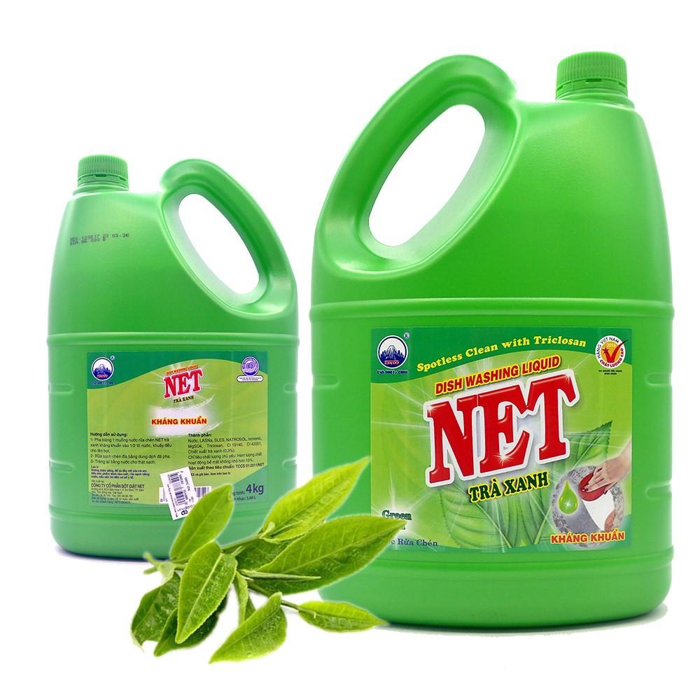 Nước rửa chén Net sạch (trà xanh 4kg)