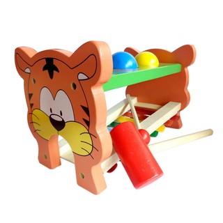 Đồ chơi đàn và đập bóng hình hổ bằng gỗ