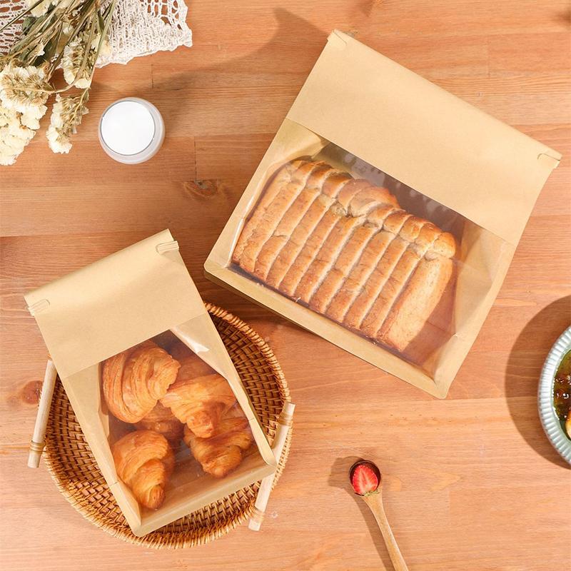 Bộ 50 Túi Giấy Đựng Bánh Mì 490g Tiện Lợi
