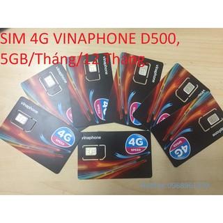 SIM 4G VINAPHONE D500 TRỌN GÓI 1 NĂM, MỖI THÁNG 5 GB DATA TỐC ĐỘ CAO
