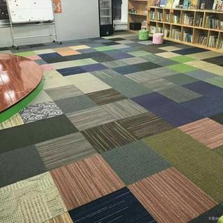 hỗn hợp nhiều màu thảm PVC văn phòng khách ngủ khâu bi-a vuông 50 thumbnail
