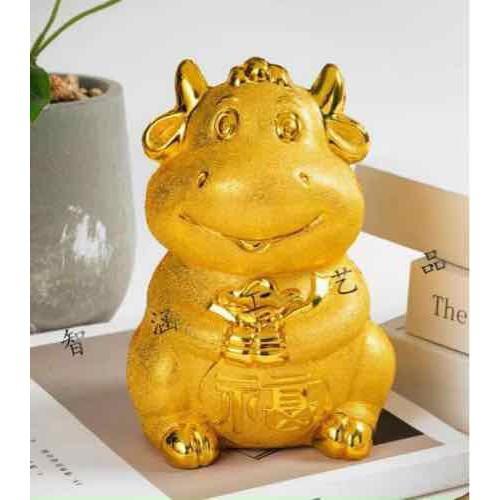 Trâu vàng đựng tiền lì xì – B56