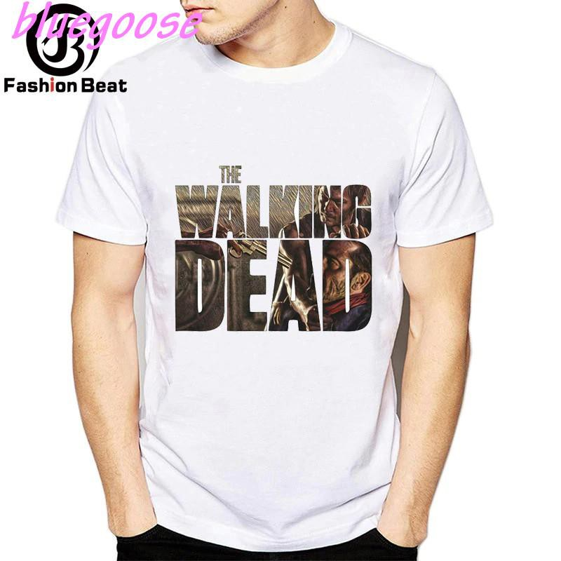 BG Tv Series The Walking Dead Daryl Dixon Angel Wings Short Sleeve Men T Shirt B