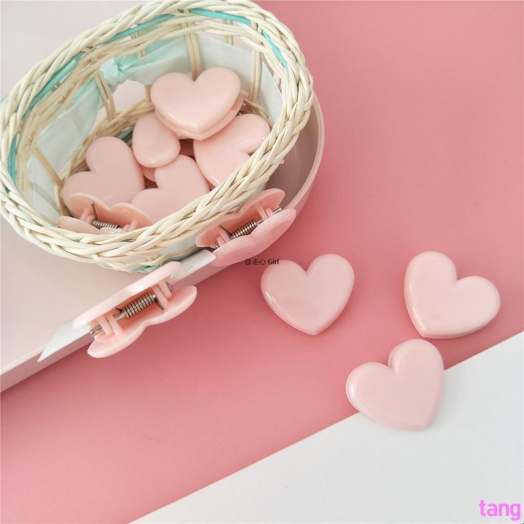 Pink soft sister girl love heart-shaped clip folder invoice folder photo clip ph