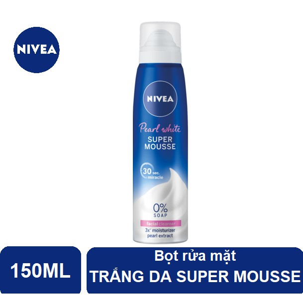 Bọt rửa mặt trắng da Nivea Super Mousse (150ml) - 82524