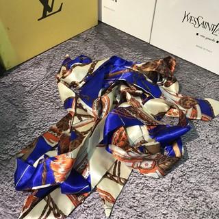 dây lụa buộc túi xách ,khăn lụa trang trí túi xách thumbnail