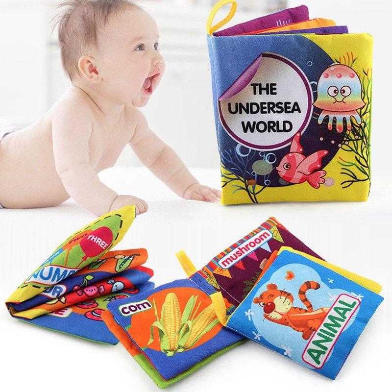 Sách tranh bằng vải đồ chơi giáo dục cho bé