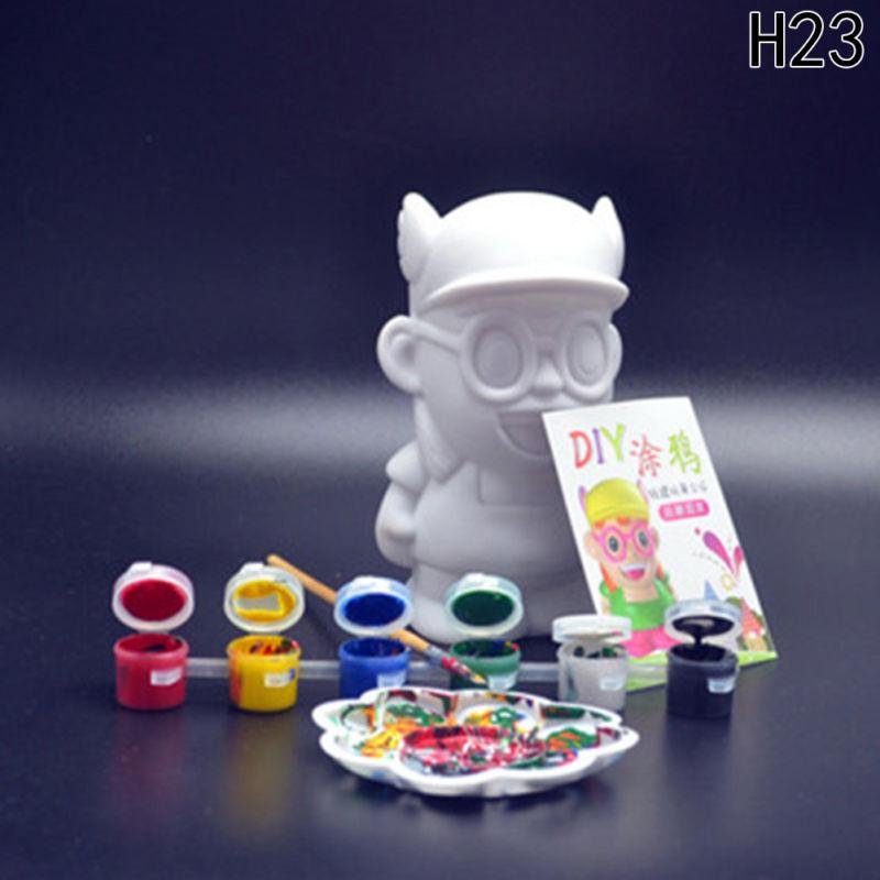 9pcs/set Money Bank Model Kids DIY Craft Painting Kits Gifts Kids Children Toys
