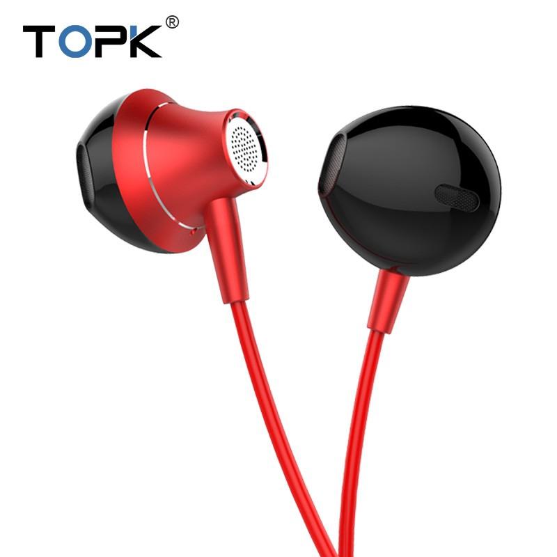 Tai nghe nhét tai TOPK F03 giắc 3.5mm cho điện thoại OPPO R15