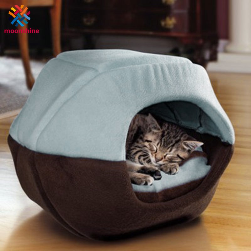 Winter Cat Dog Bed House Foldable Soft Warm Animal Puppy Cave Sleeping Mat Pad Nest Kennel Pet Supplies
