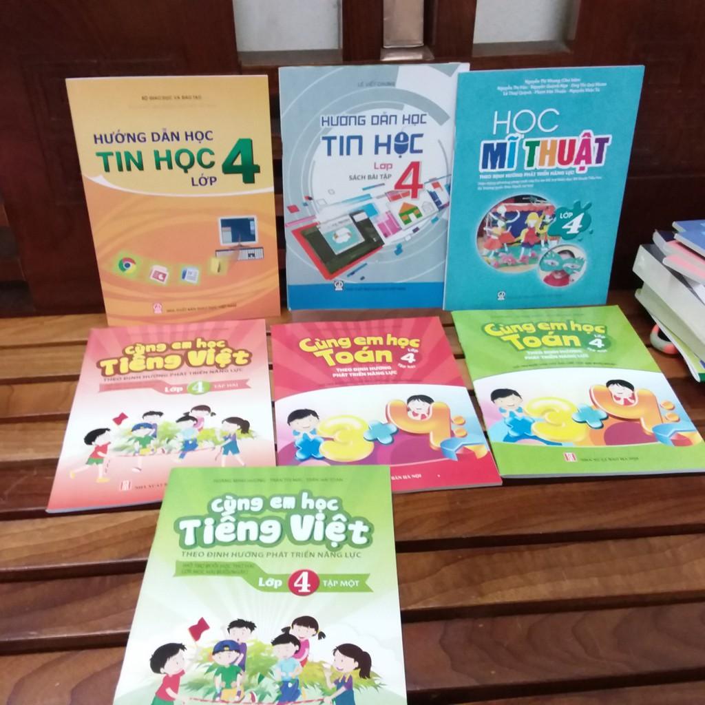 Sách - Combo 7 cuốn sách giáo khoa lớp 4 ,2018 cùng em học toán + tiếng việt + tin học và học mĩ thu - 3486899 , 1150286528 , 322_1150286528 , 164000 , Sach-Combo-7-cuon-sach-giao-khoa-lop-4-2018-cung-em-hoc-toan-tieng-viet-tin-hoc-va-hoc-mi-thu-322_1150286528 , shopee.vn , Sách - Combo 7 cuốn sách giáo khoa lớp 4 ,2018 cùng em học toán + tiếng việt +