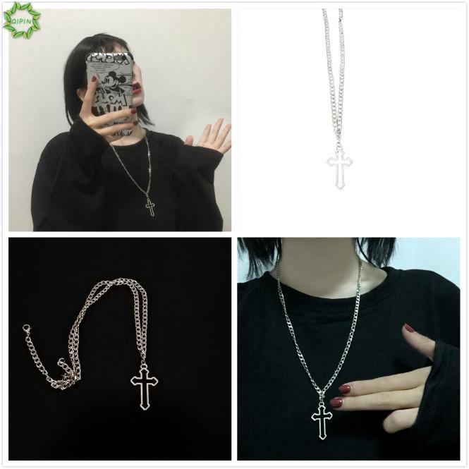 Vòng cổ mặt dây hình chữ thập phong cách hiphop thời trang cá tính