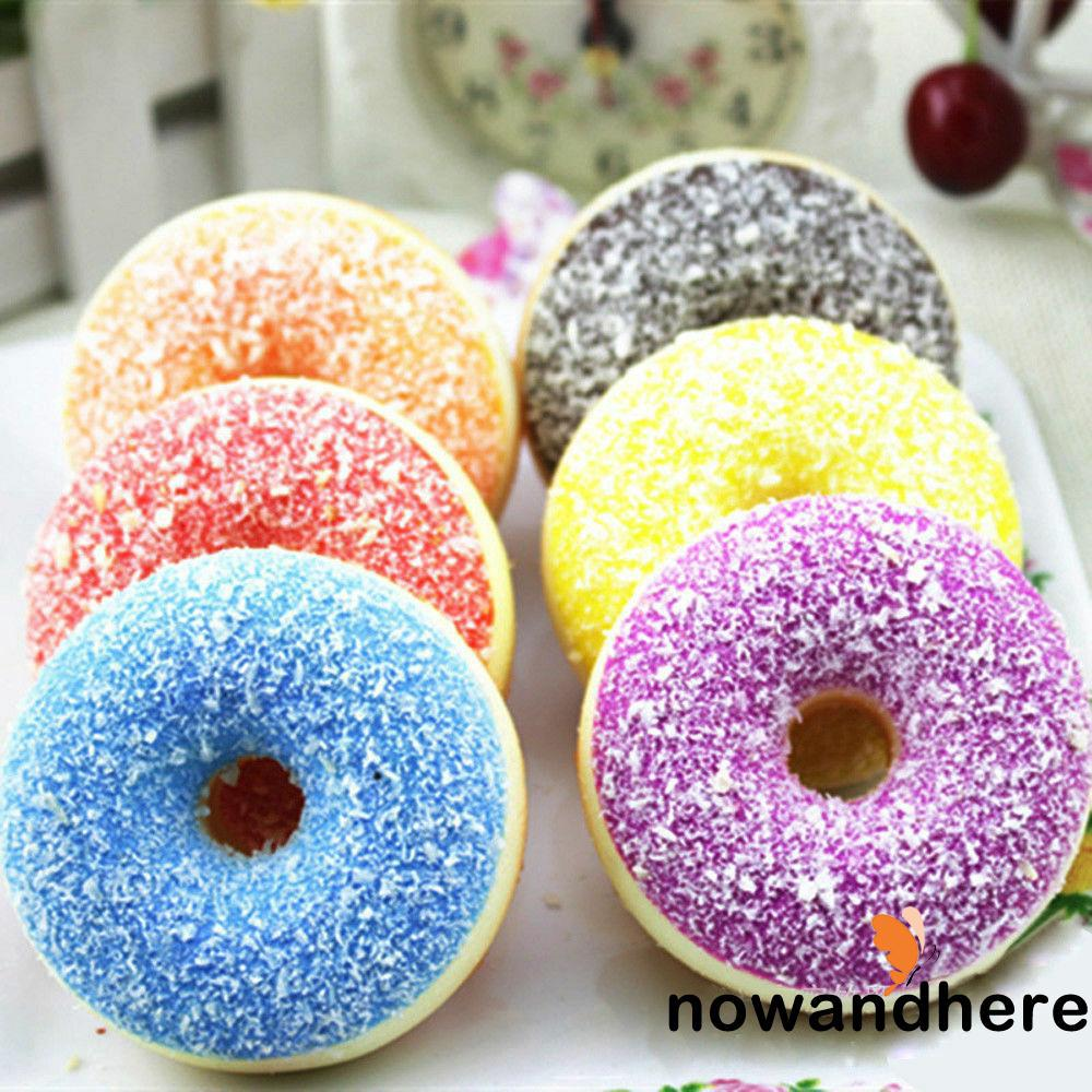 NNN-funny Squishy Slow Rising Soft Squeeze Stress Reliever Doughnut Scented