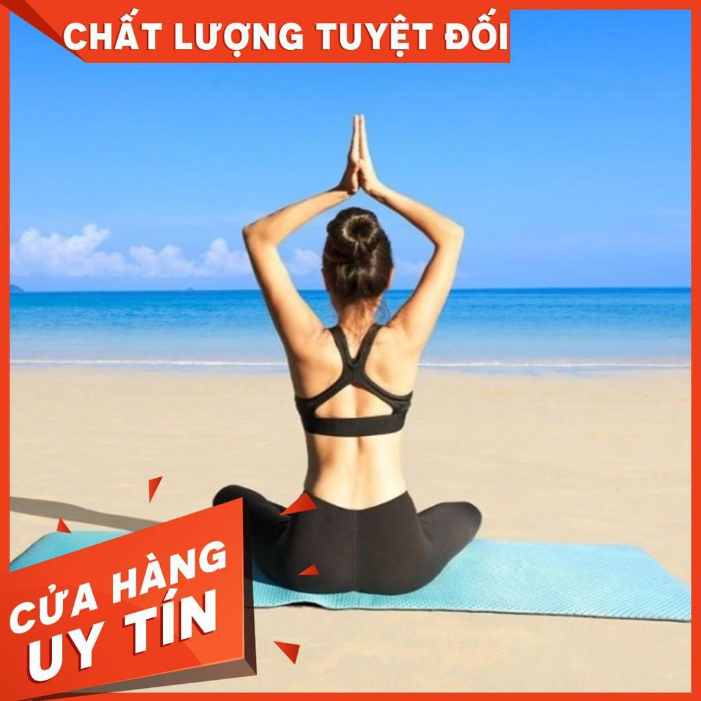 Thảm Tập Yoga TPE Cao Cấp Chống Trơn + Tặng Túi Và Dây Buộc