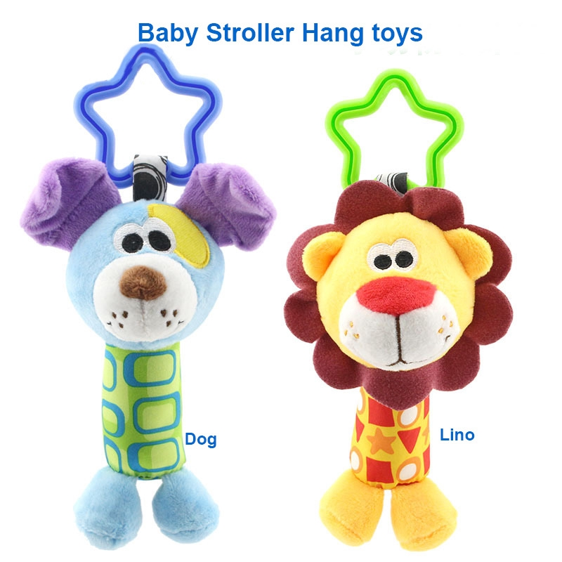 Baby Lovely Doll Rattle Cartoon Animal Bell Sound Toys