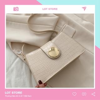 Túi đeo chéo nữ đi chơi da mềm cá tính dễ thương nhiều ngăn LOT STORE TX647