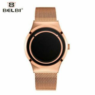 Đồng hồ nam BELBI 5888 mặt đá đen Fullbox chính hãng