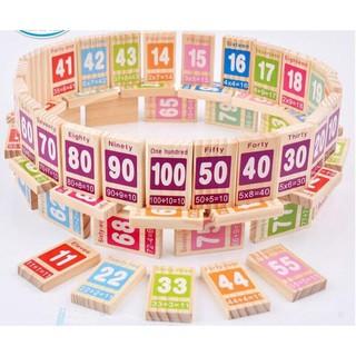 Bộ Domino 100 số học kèm tiếng anh