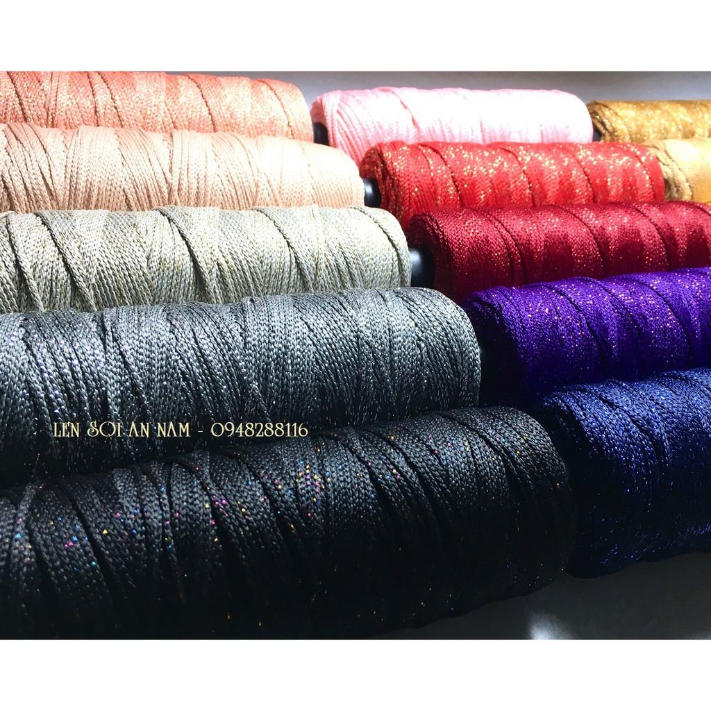 Sợi Dệt Kim Tuyến 2mm 125gram/cuộn (đã trừ lõi) - Phụ kiện túi xách - Phụ kiện thủ công Handmade