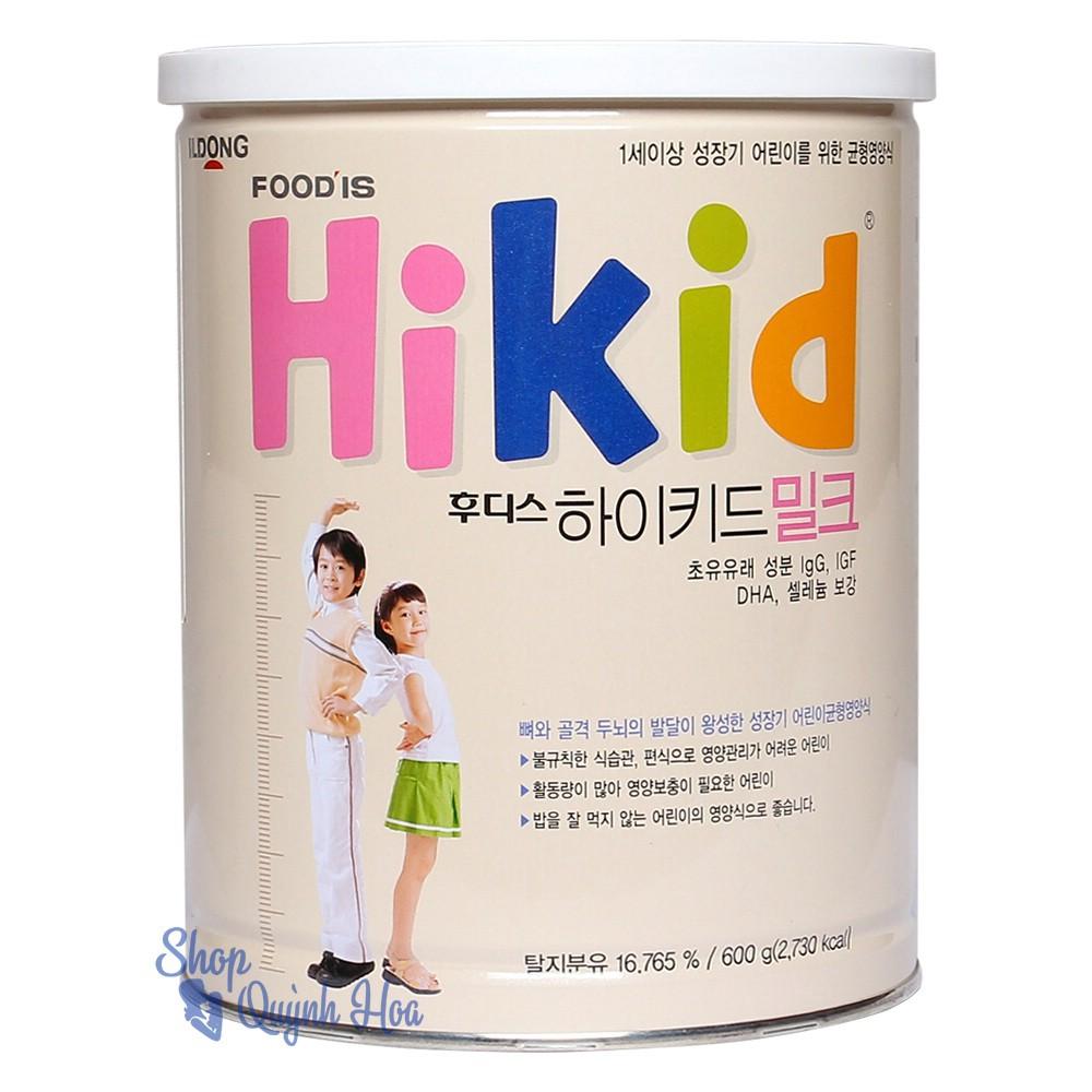 Sữa Hikid tăng trưởng cho bé trên 1 tuổi vị Vani 600g (Hàng nhập