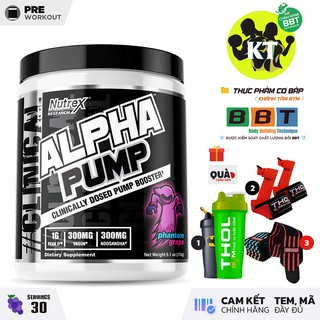 Nutrex Alpha Pump – Hỗ trợ Pump Cơ bắp & Kết hợp với Pre-workout