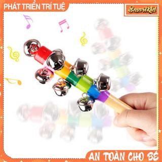 Đồ Chơi Lục Lạc Gỗ Cán Dài 10 Chuông Cho Bé thumbnail
