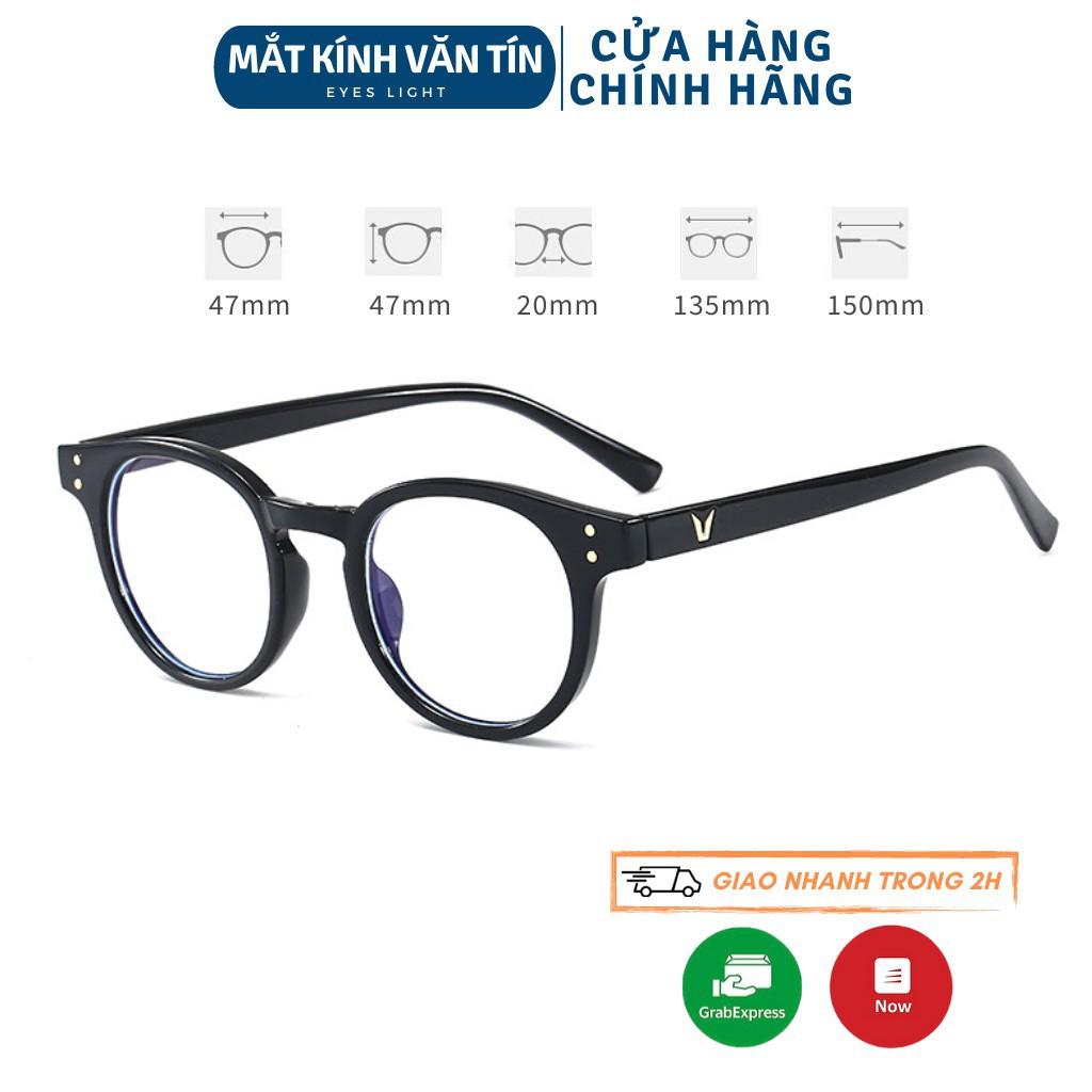 HÀNG CAO CẤP - Mắt kính thời trang Eyes Light T430 gọng kính cận nam nữ mắt tròn càng nhựa...