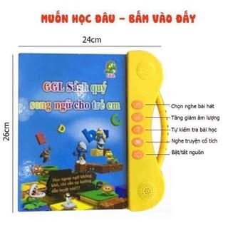 Combo Sách nói sang ngữ Anh-Việt cho bé kèm bảng tự xóa