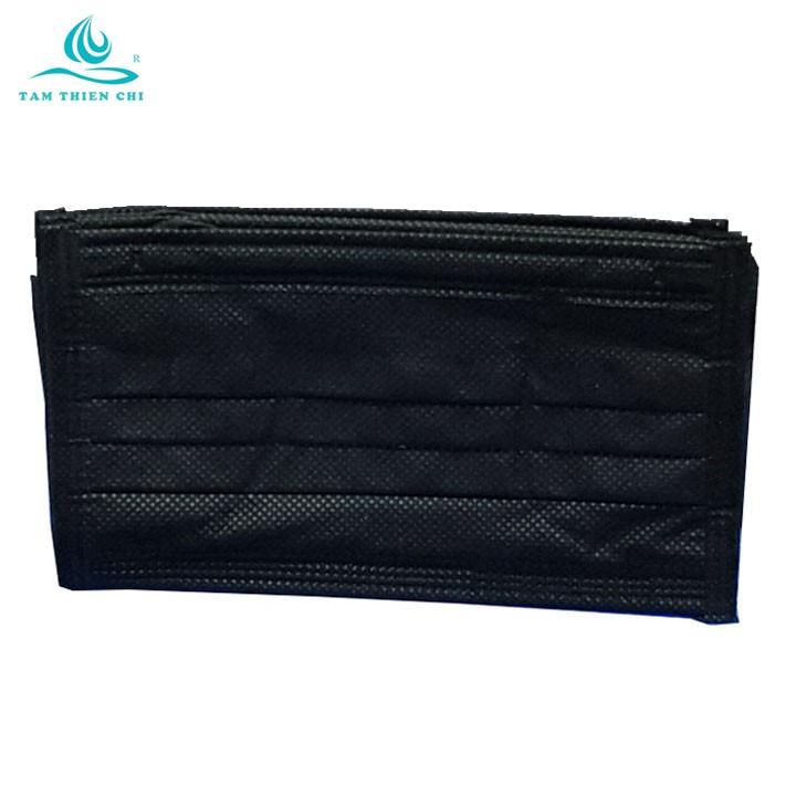 Khẩu trang màu đen phong cách Hàn Quốc TTC túi 15 chiếc