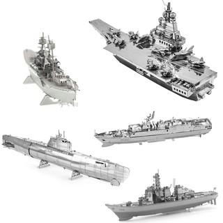 Mô hình 3d bằng thép tự ráp mẫu tàu quân sự