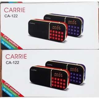 Loa carrie Sản phẩm loa carrie thiết kế nhỏ gọn, 2 pin khoẻ , có thể nghe fm, có khe thẻ cắm usb ,thẻ nhớ. thumbnail