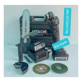 Máy mài cầm tay pin Hitachi 118V không chổi than -20000mAh-2pin-TẶNG KÈM LƯỠI CƯA XÍCH