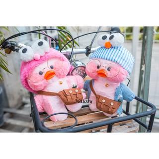 { HÀNG CÓ SẴN } _Gấu bông bé vịt má hồng đeo túi cài băng đô cute