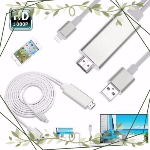 (Siêu tốt ) Cáp kết nối HDMI cho iPhone, iPad (lightning to HDTV Cable) chiều dài: 2M (trắng)