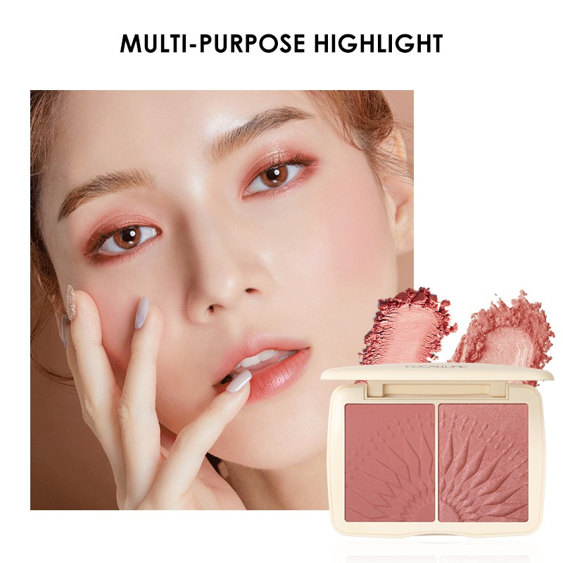 Phấn má hồng FOCALLURE sắc tố cao làm sáng da hiệu quả 12g