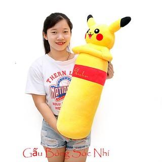 Gấu bông gối ôm hình Pikachu 1m