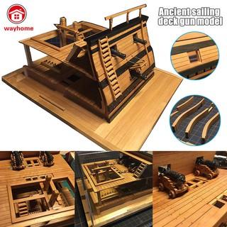 1:48 Deck Battle Station Wood Model Ship Kit DIY Decoration Durable for Home Office