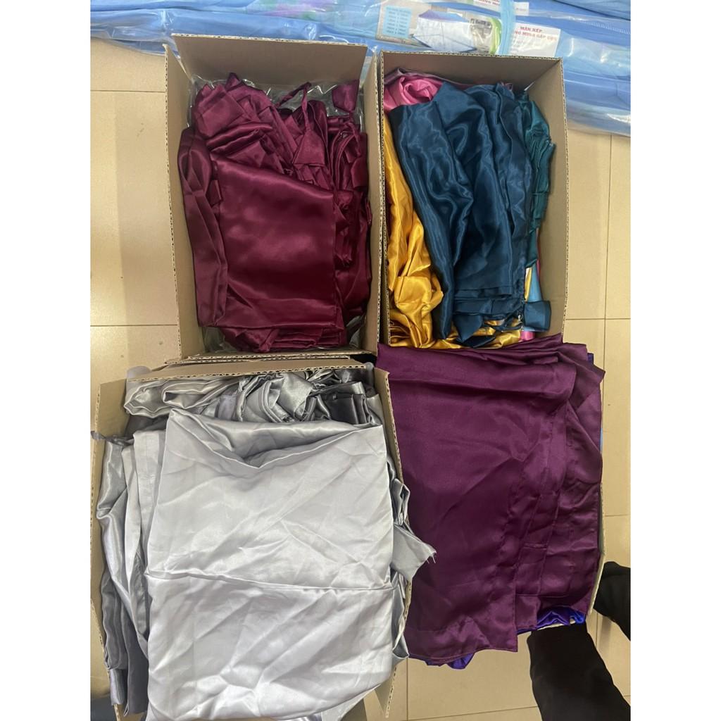 Vỏ áo gối nằm 50x70cm/vỏ gối ôm 35x100cm lụa cao cấp Ánh Sao ( giao màu ngẫu nhiên)