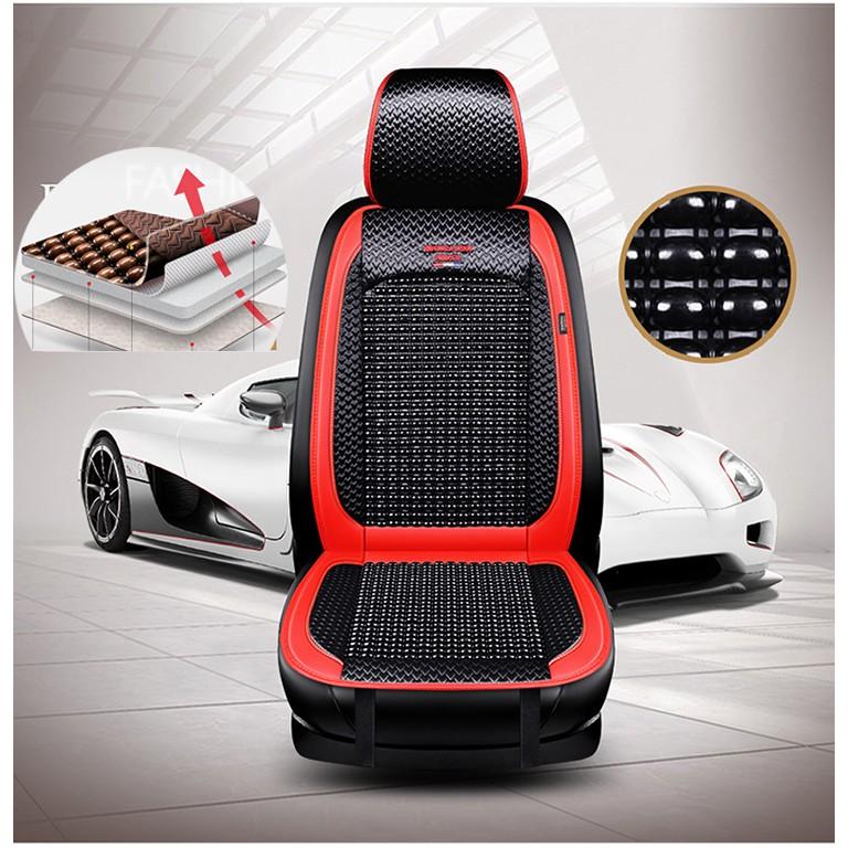 Tựa lưng lót ghế hạt gỗ chống nóng, trượt và massage cao cấp dùng được cho ô tô, xe hơi, văn phòng xe khách, xe tải