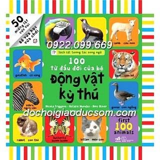 Sách lật tương tác - 100 từ về Động vật kỳ thú
