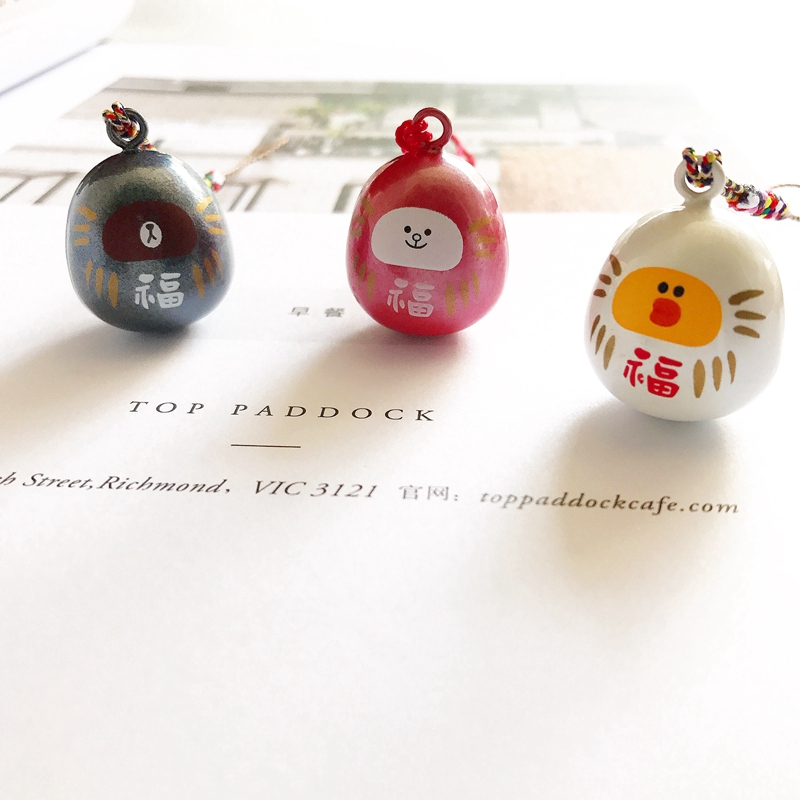 ◆□Cute export Japan line Blanchon water Bell bag mobile phone pendant chain creative hand