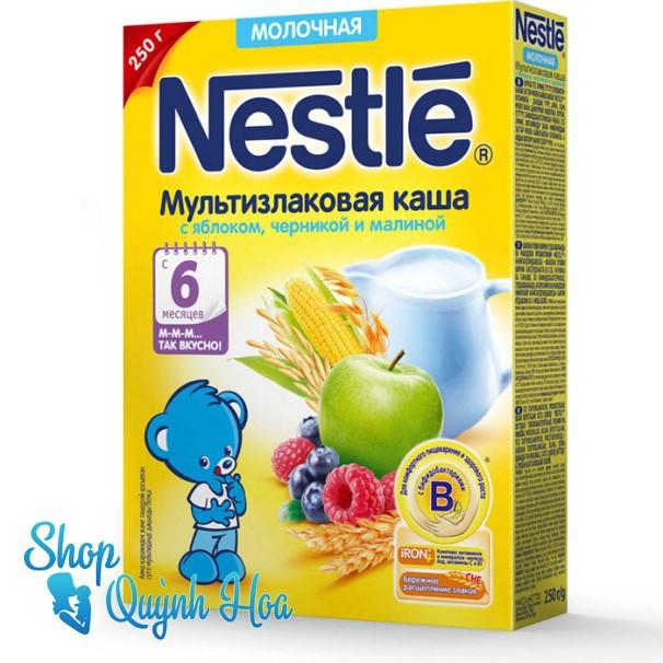 Bột ăn dặm Nestle Nga 6 tháng vị ngô, táo, việt quất, mâm xôi và sữa, 250g - 21510784 , 381402340 , 322_381402340 , 110000 , Bot-an-dam-Nestle-Nga-6-thang-vi-ngo-tao-viet-quat-mam-xoi-va-sua-250g-322_381402340 , shopee.vn , Bột ăn dặm Nestle Nga 6 tháng vị ngô, táo, việt quất, mâm xôi và sữa, 250g