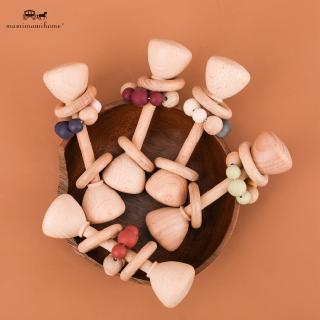 COD 1 cái Đồ chơi trẻ em bằng gỗ Teething Beech Wood Toys Đồ chơi trẻ em Nhai silicone Teething Baby Rattles bằng gỗ Đồ chơi cho trẻ em đang mọc răng BPA Miễn phí cho trẻ sơ sinh thumbnail