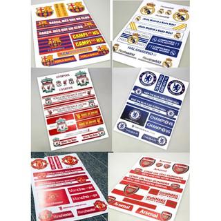 Decal dán xe, laptop, điện thoại, mũ bảo hiểm…clb bóng đá arsenal chelsea MU Liverpool
