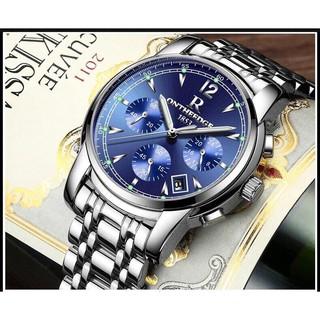 Đồng hồ nam ONTHEEDGE Dây thép không rỉ khóa đôi Inox + Tặng hộp đồng hồ + Pin thumbnail