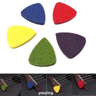 10pcs Soft Felt Mini Tool Professional Accessories Musical Instrument Durable Guitar Pick